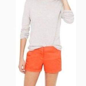 J. Crew Bright Orange Broken In Chino Shorts Sz 8